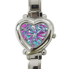 Art Deco Candy Heart Italian Charm Watch by MoreColorsinLife