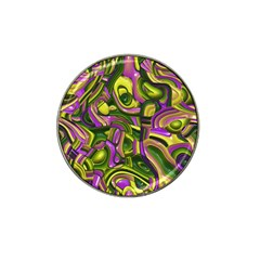 Art Deco Yellow Green Hat Clip Ball Marker (4 Pack) by MoreColorsinLife