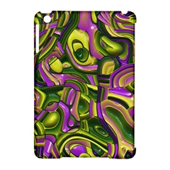 Art Deco Yellow Green Apple iPad Mini Hardshell Case (Compatible with Smart Cover) by MoreColorsinLife