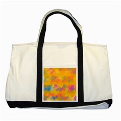 Fading Squares Two Tone Tote Bag by LalyLauraFLM