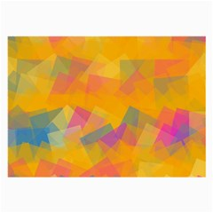 Fading squares Large Glasses Cloth by LalyLauraFLM