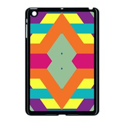 Colorful Rhombus And Stripes Apple Ipad Mini Case (black) by LalyLauraFLM