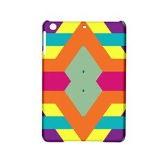 Colorful Rhombus And Stripes Apple Ipad Mini 2 Hardshell Case by LalyLauraFLM