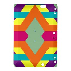 Colorful rhombus and stripes Kindle Fire HDX 8.9  Hardshell Case by LalyLauraFLM