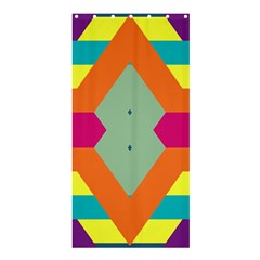 Colorful Rhombus And Stripesshower Curtain 36  X 72  by LalyLauraFLM