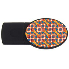 Squares And Other Shapes Pattern Usb Flash Drive Oval (4 Gb) by LalyLauraFLM