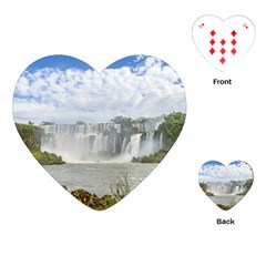 Waterfalls Landscape At Iguazu Park Playing Cards (heart)  by dflcprints
