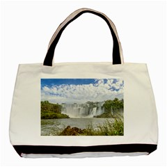 Waterfalls Landscape At Iguazu Park Basic Tote Bag  by dflcprints