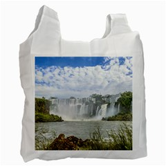 Waterfalls Landscape At Iguazu Park Recycle Bag (One Side) by dflcprints