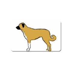 Anatolian Shepherd color silhouette Magnet (Name Card) by TailWags