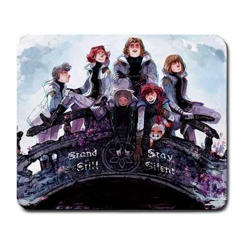 Stand Still, Stay Silent Mousepad By Matthew Thom   Large Mousepad   8kpih276tjgg   Www Artscow Com Front