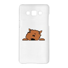 Peeping Pomeranian Samsung Galaxy A5 Hardshell Case  by TailWags