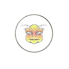 Angry Monster Portrait Drawing Hat Clip Ball Marker (4 Pack) by dflcprints