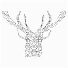 Modern Geometric Christmas Deer Illustration Collage 12  X 18  by Dushan