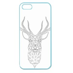 Modern Geometric Christmas Deer Illustration Apple Seamless Iphone 5 Case (color) by Dushan