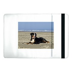 Bernese Mountain Dog Laying On Beach Samsung Galaxy Tab Pro 10.1  Flip Case by TailWags