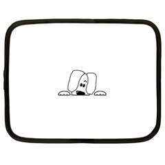 Peeping White Havanese Netbook Case (Large)	 by TailWags