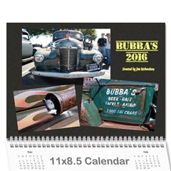 Bubba s Bait Truck 2016 By J  Richardson   Wall Calendar 11  X 8 5  (12 Months)   A0ct9upfzune   Www Artscow Com Cover