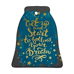 let up and start(gold)2 Bell Ornament by walala