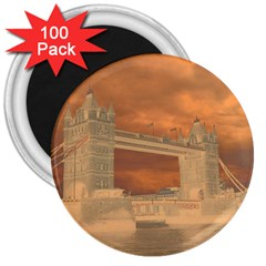 London Tower Bridge Special Effect 3  Magnets (100 pack) by MoreColorsinLife