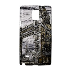 Metal Art London Tower Bridge Samsung Galaxy Note 4 Hardshell Case by MoreColorsinLife