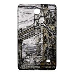 Metal Art London Tower Bridge Samsung Galaxy Tab 4 (8 ) Hardshell Case  by MoreColorsinLife