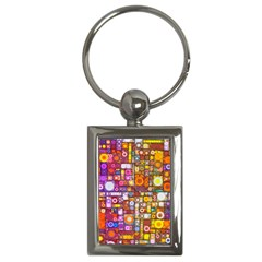 Circles City Key Chains (rectangle)  by KirstenStar