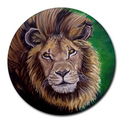 Lion Round Mousepads by ArtByThree