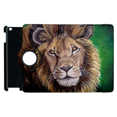 Lion Apple Ipad 3/4 Flip 360 Case by ArtByThree