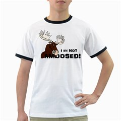 Angry Moose I am Not Amoosed Men s Ringer T-shirt by IphavokImpressions