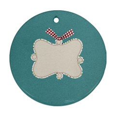 Christmas Dazzle 1 By Lisa Minor   Round Ornament (two Sides)   K982xxo619uw   Www Artscow Com Back