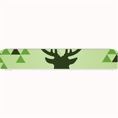 Modern Geometric Black And Green Christmas Deer Small Bar Mats by Dushan