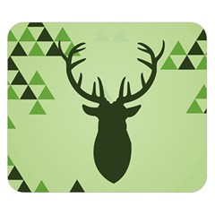 Modern Geometric Black And Green Christmas Deer Double Sided Flano Blanket (small)  by Dushan