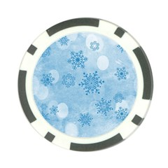Winter Bokeh Blue Poker Chip Card Guards (10 pack)  by MoreColorsinLife
