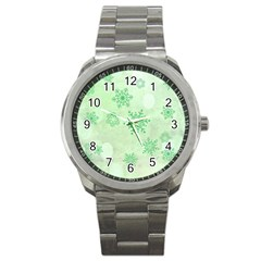 Winter Bokeh Green Sport Metal Watches by MoreColorsinLife