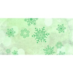Winter Bokeh Green You Are Invited 3d Greeting Card (8x4)