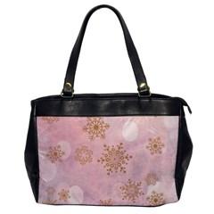 Winter Bokeh Pink Office Handbags by MoreColorsinLife