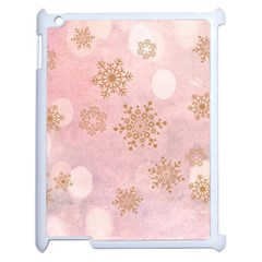 Winter Bokeh Pink Apple Ipad 2 Case (white) by MoreColorsinLife