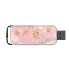 Winter Bokeh Pink Portable Usb Flash (one Side) by MoreColorsinLife