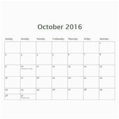 2016 Cal By Jj   Wall Calendar 11  X 8 5  (12 Months)   5y56o15w0vgp   Www Artscow Com Oct 2016