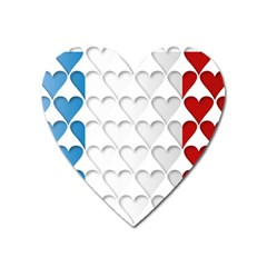 France Hearts Flag Heart Magnet by theimagezone