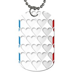 France Hearts Flag Dog Tag (two Sides) by theimagezone