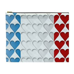 France Hearts Flag Cosmetic Bag (XL) by theimagezone