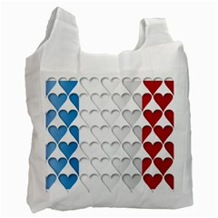 France Hearts Flag Recycle Bag (Two Side)  by theimagezone