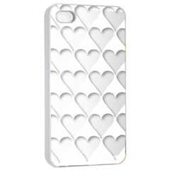 France Hearts Flag Apple Iphone 4/4s Seamless Case (white) by theimagezone