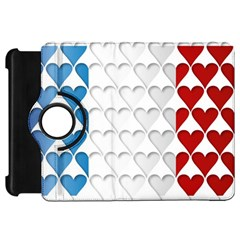 France Hearts Flag Kindle Fire Hd Flip 360 Case by theimagezone