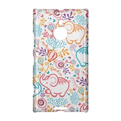 Cute Pastel Tones Elephant Pattern Nokia Lumia 1520 by Dushan