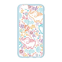 Cute pastel tones elephant pattern Apple Seamless iPhone 6/6S Case (Color) by Dushan