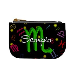Scorpio Floating Zodiac Name Mini Coin Purses by theimagezone