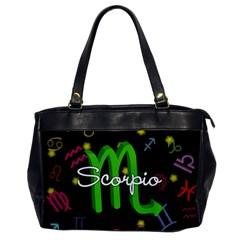 Scorpio Floating Zodiac Name Office Handbags by theimagezone